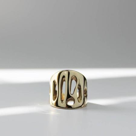 L.Greenwalt Organic Statement Ring - Bronze