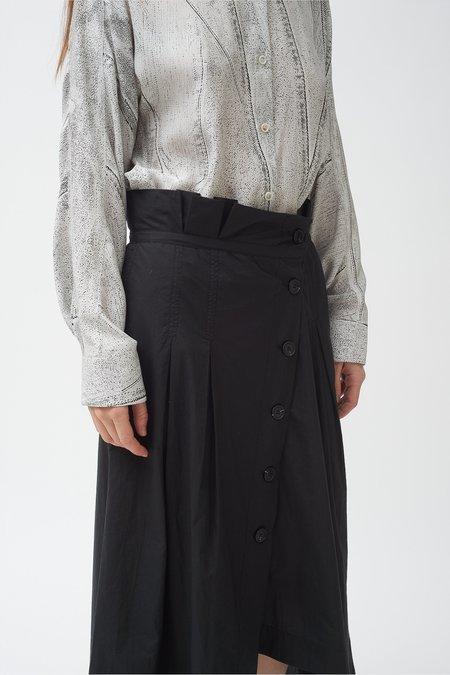 Colovos Button Down Asymmetric Skirt