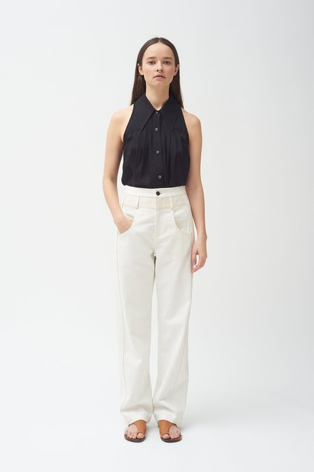 Colovos Side Panel Pant - White/natural