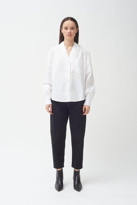 Colovos cotton poplin Rib cuff Blouse - White