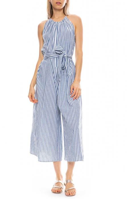 Apiece Apart Sleeveless Isla Jumpsuit - Marseilles Stripe