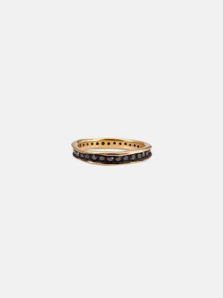 Satomi Kawakita eternity ring - 18k yellow gold/black diamond