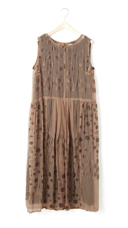 Pas de Calais Sheer Sparkle Dress - Rust