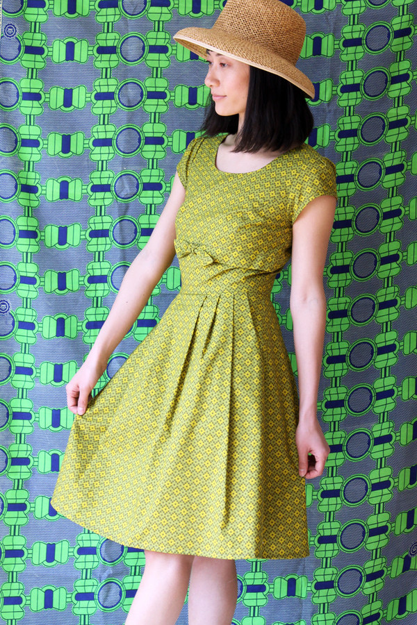 Birds of North America Peppershrike Dress (Green)