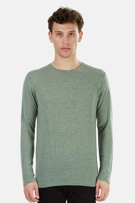Blue&Cream Lightweight Cashmere Crew Sweater - Shrub