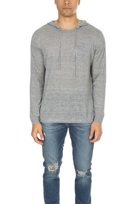 Blue&Cream Pullover Hoodie Sweater - Wolf Grey