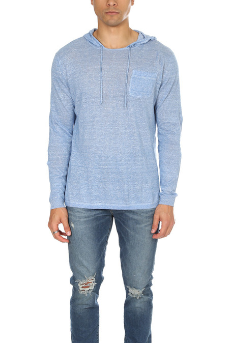Blue&Cream Pullover Hoodie Sweater - Dodger blue