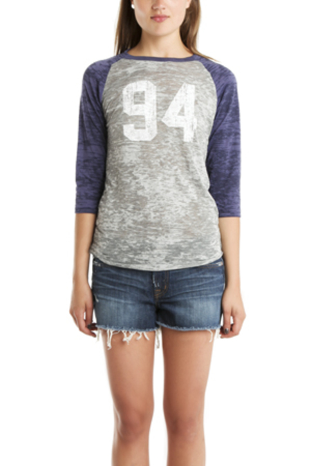 Blue&Cream x Gianni Regulate Baseball T-Shirt - Grey/Navy