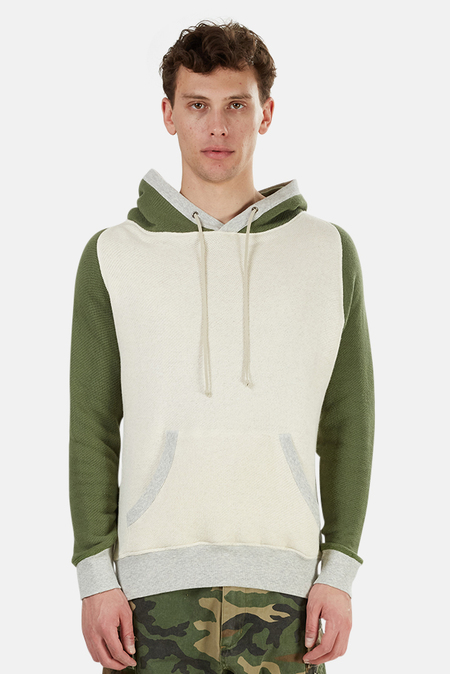 Blue&Cream Pullover Hoodie Sweater - Oatmeal/Olive
