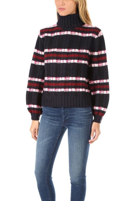 A.L.C. Zaira Sweater - Midnight/Burgundy/Cream