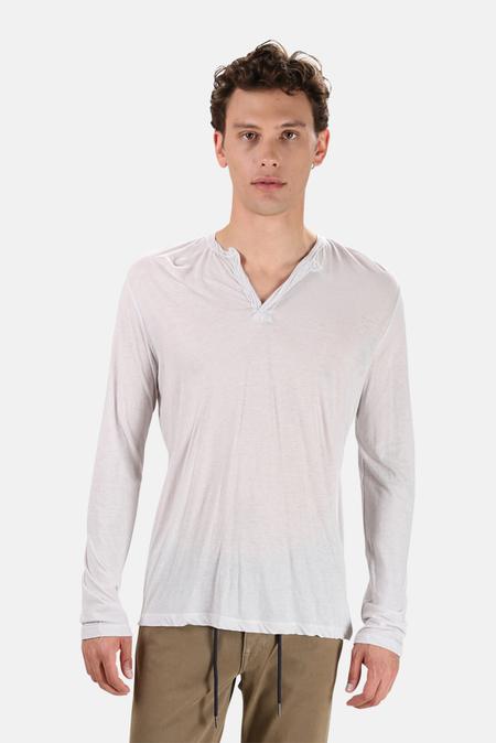 Blue&Cream 66 LS Slit T-Shirt - Light Grey