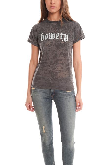 UNISEX Blue&Cream Bowery Burnout T-Shirt - Grey