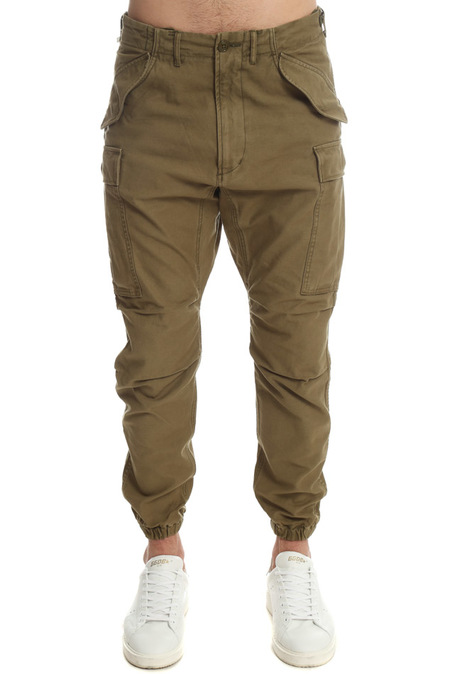 R13 Military Cargo Pants - olive