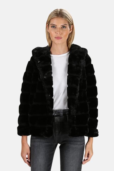 Apparis Goldie Faux Fur Coat - Noir