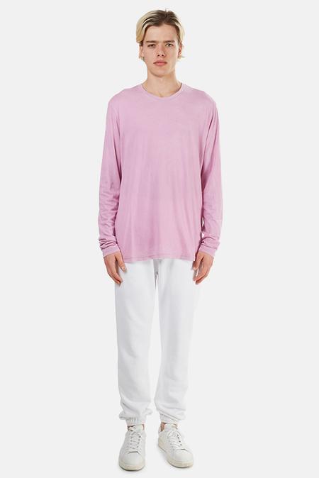 Blue&Cream x Cotton Citizen Classic Crewneck Long Sleeve Top - Vintage Pink Lavender
