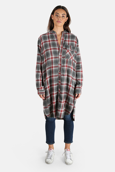 NSF Pepper Shirtdress - Flannel Grey