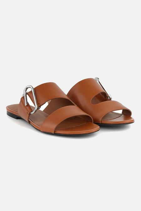 3.1 Phillip Lim Alix Flat Sandal Shoes - Cognac