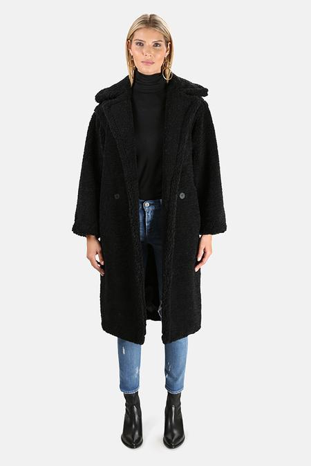 Apparis Daryna Faux Shearling Coat - Black