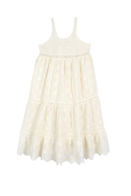 kids LoveShackFancy Scarlett Dress - Ivory Embroidery