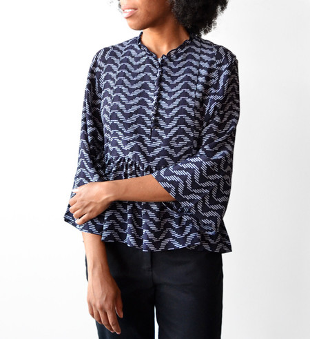 Apiece Apart 10 Thousand Waves Mesa Drape Blouse