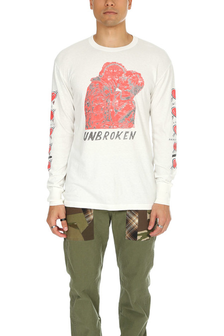 Shuttle Notes The Heart LS T-Shirt - Off White