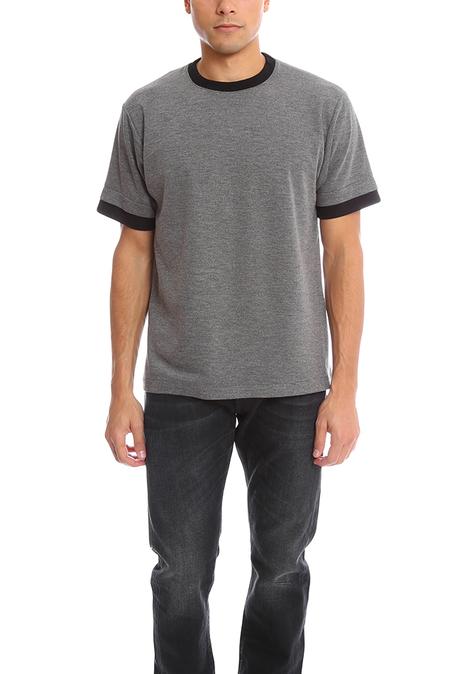 Public School Double Sleeve T-Shirt - Grey/Black