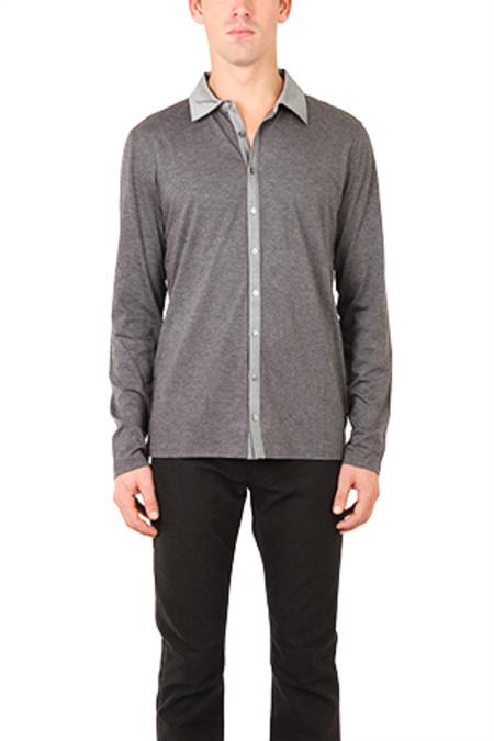 Quinn Roy Button Down Shirt - Charcoal