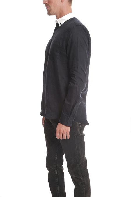 Soild & Striped The BD Contrast Linen Collar Shirt - Navy
