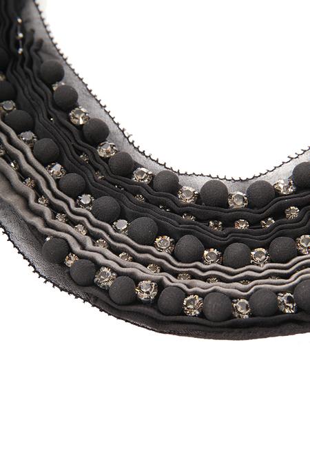 3.1 Phillip Lim Embellished Bib necklace - Black