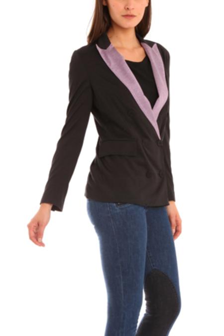 Women's 3.1 Phillip Lim Jersey Tuxedo Blazer - Black/Purple