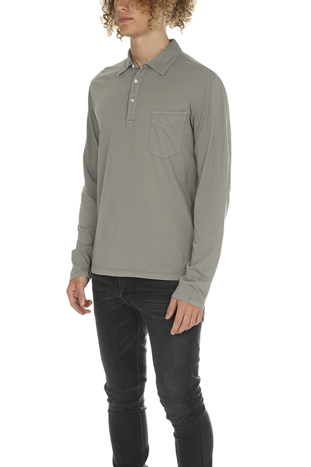 Officine Generale LS Polo Top - Greystone