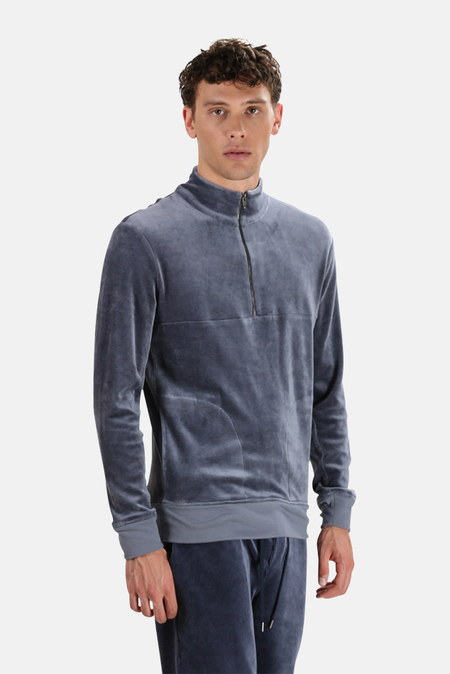 Wheelers.V Astor Half Zip Pullover Sweater - Midnight