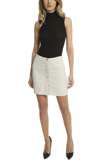 ATM Leather Skirt - Pearl