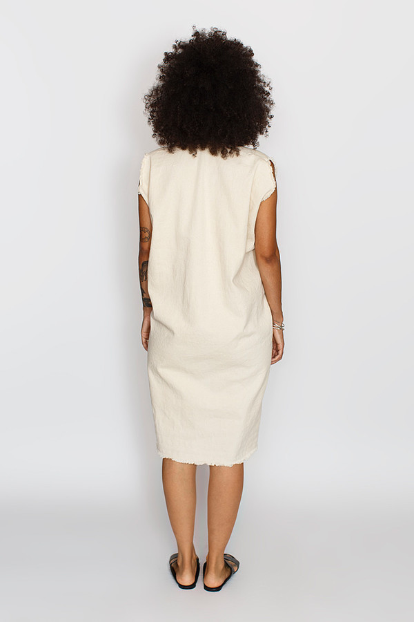 Miranda Bennett Tribute Dress Denim in Natural