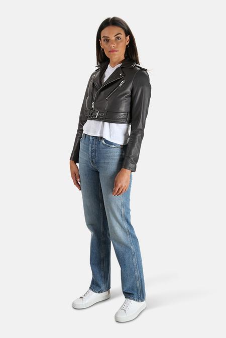 IRO Leufy Leather Jacket - Anthracite