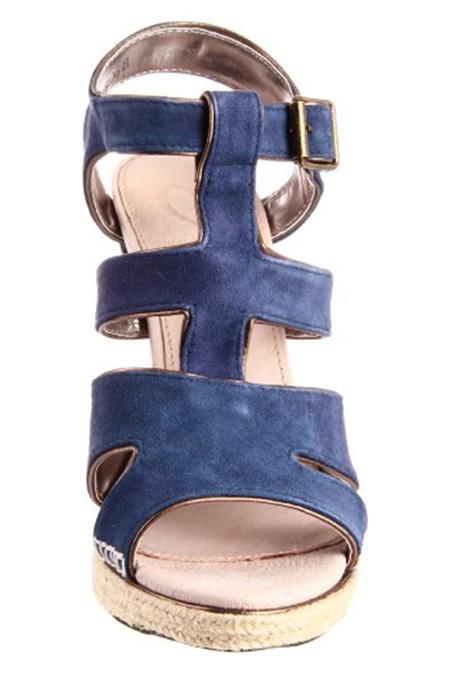 Charlotte Ronson Geraldine Sandal Shoes - Navy