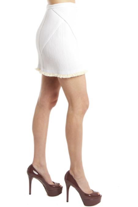 Women's 3.1 Phillip Lim Corded Mini Skirt in White, Size 2