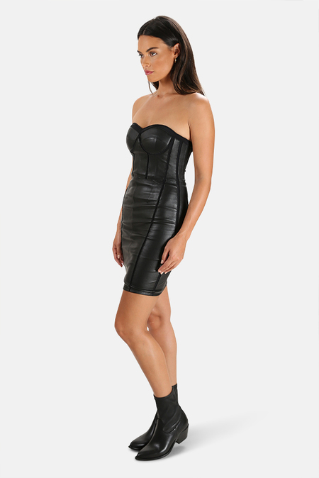 RtA Gwenyth Corset Dress - Black