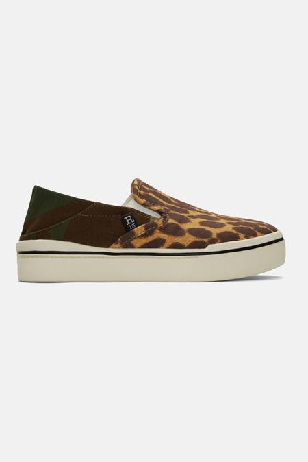 R13 Slip On Sneaker Shoes - Camo/Cheetah