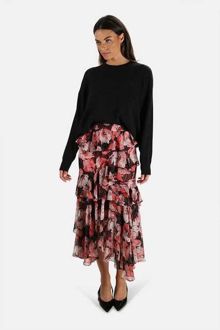 MISA Los Angeles Kiana Skirt - Pink floral