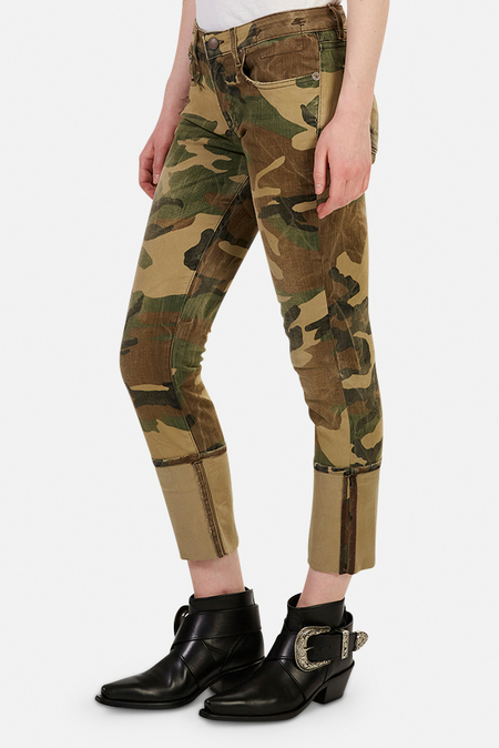 R13 Kate Skinny Jeans - Beige camo
