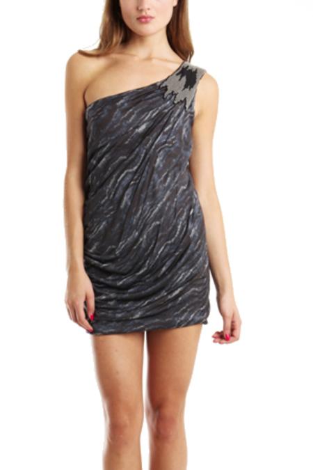 YIGAL AZROUEL One Shoulder Dress -  multi