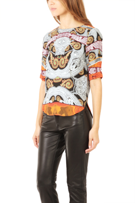 Twelfth Street by Cynthia Vincent Tail Tee Shirt - multi