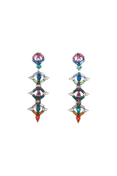 Dannijo Kosma Earrings - Multi/Ox Silver
