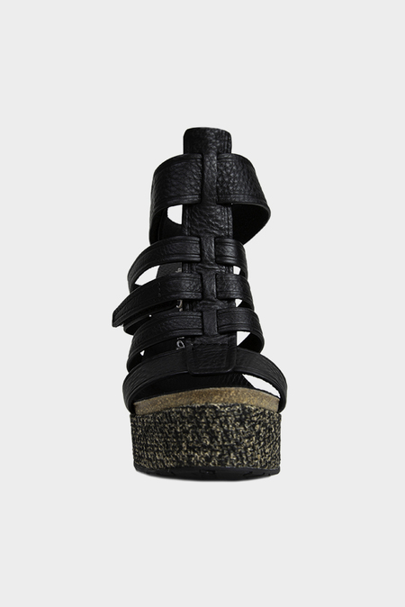 Pedro Garcia Taylin Sandal Shoes - Black Cervo
