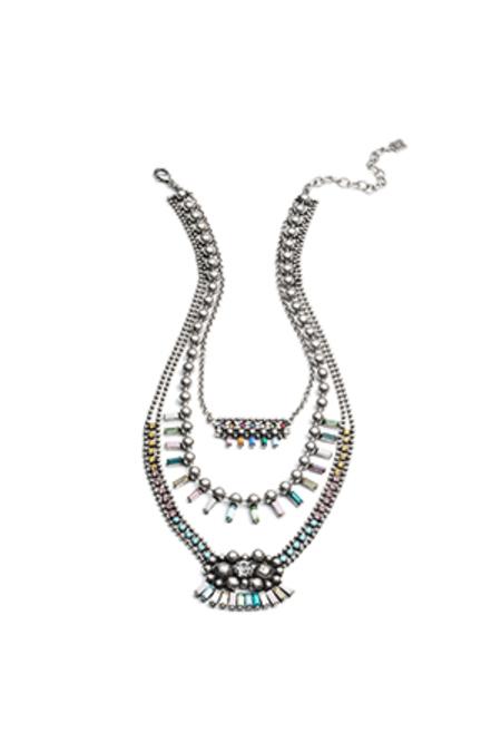 Dannijo Velia Necklace - Multi/Ox Silver