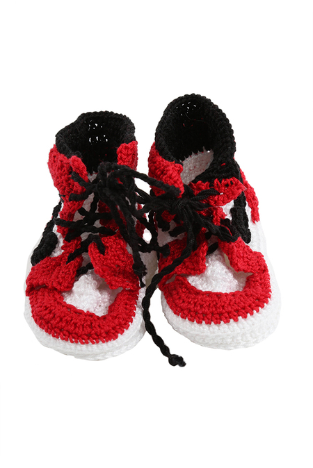Kids PICASSO BABE AJ1 Bootee Shoes - Red