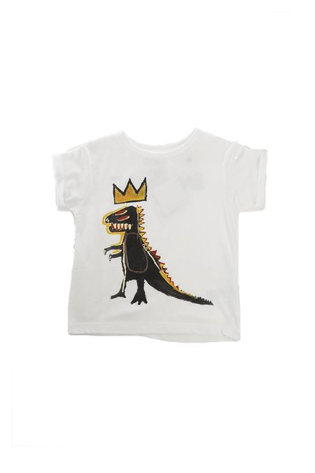 Kids Little Eleven Paris Dino Basquiat SS Tee - White