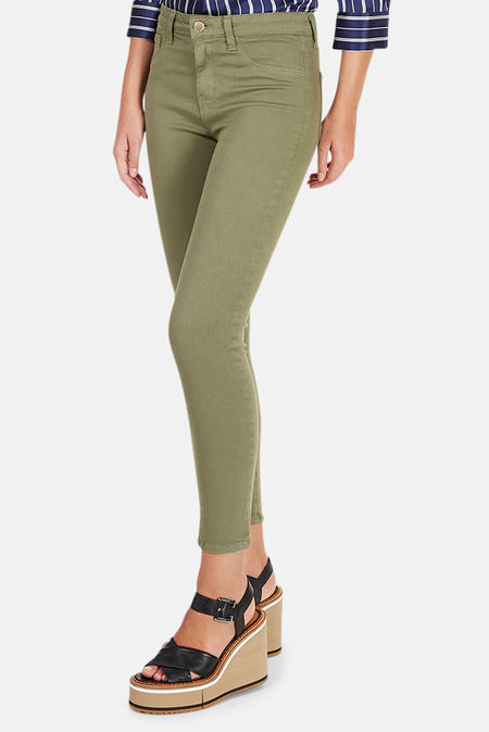 L'Agence Margot High Rise Skinny Jeans - Basil