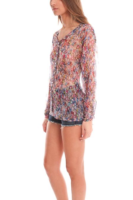 Margaux Lonnberg Laura Hippie Shirt - Sheer Flowers